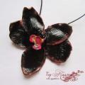 """Колье """"Черная орхидея"""""""
