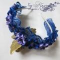Ободок канзаши сине-фиолетовый