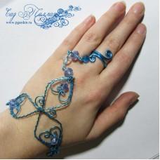 "Слейв-браслет ""Blue dream"""