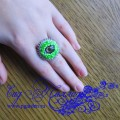 "Кольцо ""Глаз зеленого дракона"""